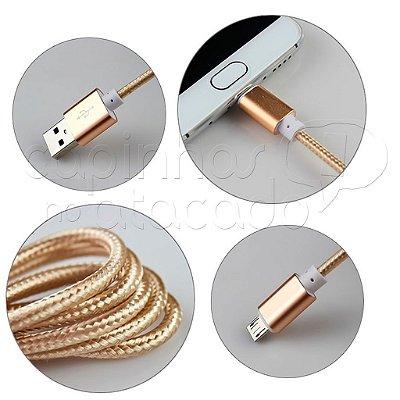 Cabo de Dados Corda USB/V8 Cores Sortidas Linha Premium - Kingo