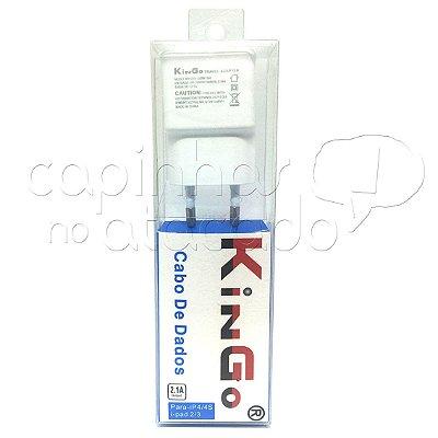 Kit Carregador FAST-2A para iPhone 4 Linha Premium - KinGo