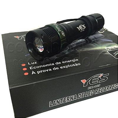 Lanterna de Led Regarregável com Carregador de Pilha - SWAT