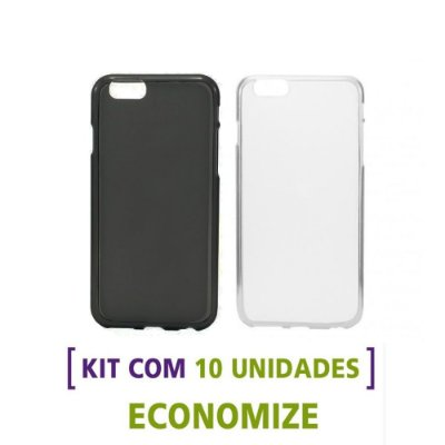 Kit com 10 Capas de TPU para Celulares da Apple / iPhone