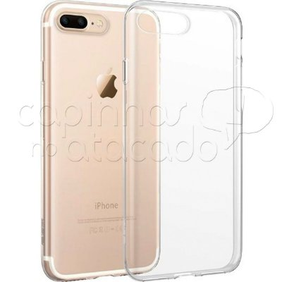 Capa de Silicone TPU Transparente para iPhone 7 Plus