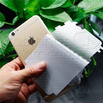 Adesivo Protetor Traseiro para Celular - Skin Carbon Fiber - Transparente