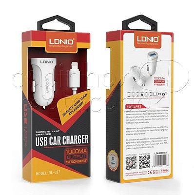 Kit Carregador Veicular 1A para iPhone 5/6 - Linha Premium - LDNIO