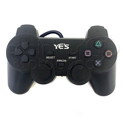 Controle com Fio para PlayStation 2 - Sem Embalagem