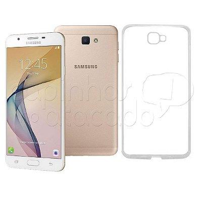 Capa de Silicone TPU Transparente para Samsung J7 Prime