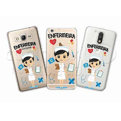 Capa Personalizada Premium Profissões - Enfermeira