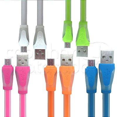 Cabo Flexível Micro USB - Cores Sortidas