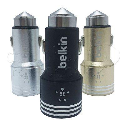 Carregador Veicular Metálico Dual USB 3.1A - Belkin - Cores Sortidas