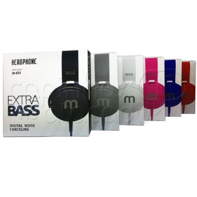 Headphone MEX Extra Bass IN650 - Cores Sortidas
