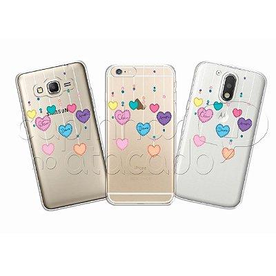 Capa Personalizada Premium - Mobile Corações