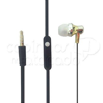 Fone de Ouvido Intra-Auricular Awemax Metálico - Cores Sortidas