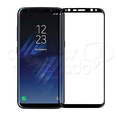 Película de Vidro Temperado Curvada com Moldura Colorida para Samsung S8 Plus