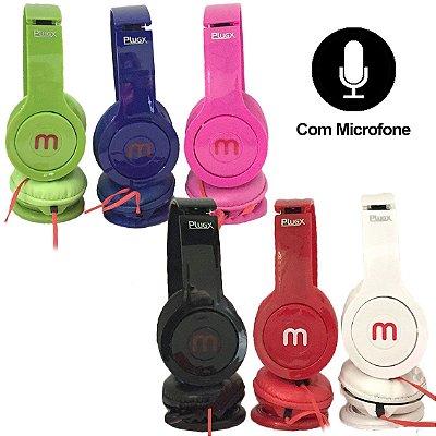 Fone de Ouvido Headphone com Microfone F-999 - Cores Sortidas