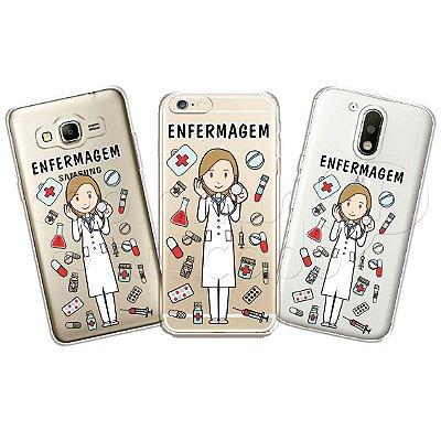 Capa Personalizada Premium Profissões - Enfermagem