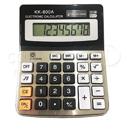 Calculadora Eletrônica KK-800A - Cores Sortidas