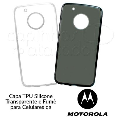 Capa de Silicone TPU para Celulares da Motorola - Clique e Escolha o Aparelho
