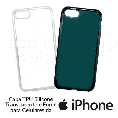 Capa de Silicone TPU para Celulares iPhone - Clique e Escolha o Aparelho