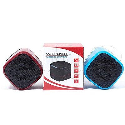 Caixa de Som Bluetooth WSTER WS-201BT - Cores Sortidas