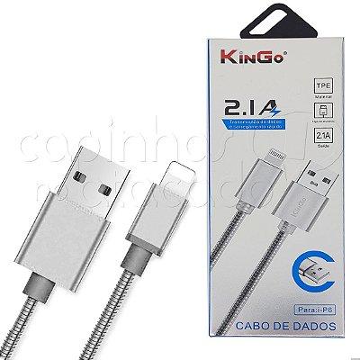 Cabo de Dados Metalizado iPhone 5/6 Cores Sortidas Linha Premium - Kingo