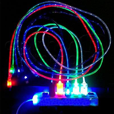 Cabo de Dados LED - Cores Sortidas