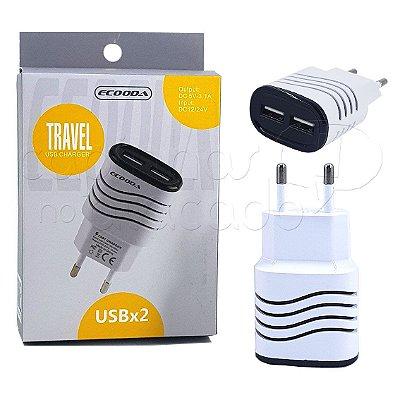 Fonte / Carregador Dual USB - Ecooda Ondas