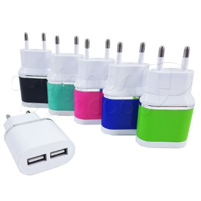Fonte / Carregador Dual USB - Ecooda Colors - Cores Sortidas