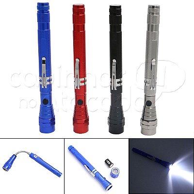 Lanterna de Led Regulável até 57cm com Imã - Cores Sortidas