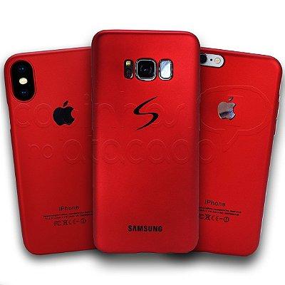 Capinha de Silicone Red Metalic