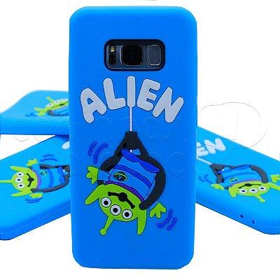 Capinha de Silicone 3D Alien