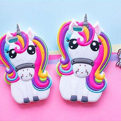Capinha de Silicone 3D Magic Unicorn
