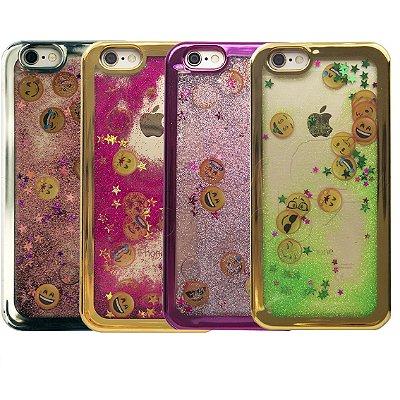 Capinha Emoji Liquid Glitter - Cores Sortidas