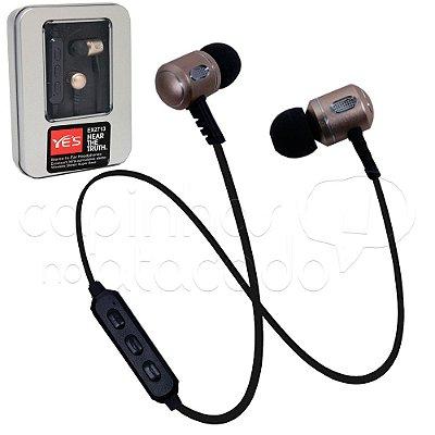 Fone de Ouvido Bluetooth Intra-Auricular - Steel Box
