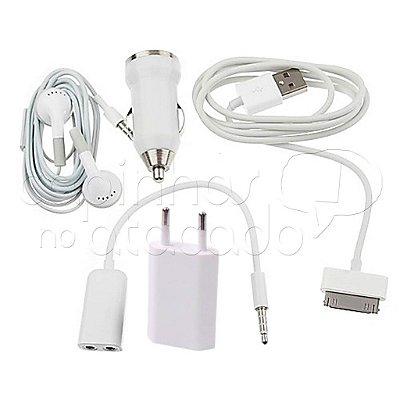 Kit Carregador para Iphone 4 - (5 em 1)