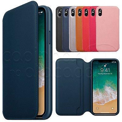 Capinha Folio para Celulares iPhone - Cores Sortidas