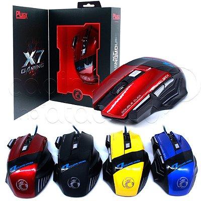 Mouse Gamer com Fio X-7 - Cores Sortidas