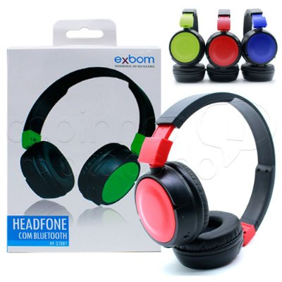 Headphone com Bluetooth HF-270BT Exbom - Cores Sortidas