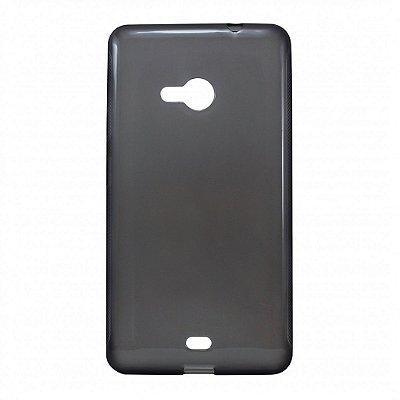 Capa de Silicone TPU Fumê para Nokia Lumia N535