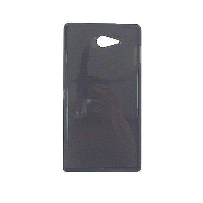 Capa de Silicone TPU Fumê para Sony Xperia M2 Aqua