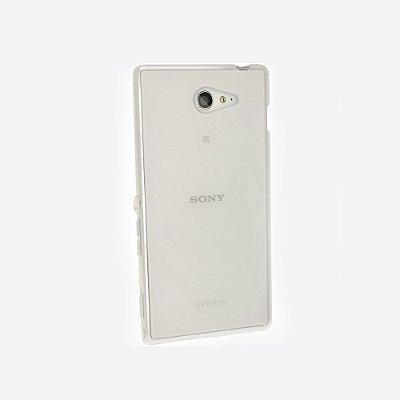 Capa de Silicone TPU Transparente para Sony Xperia M2