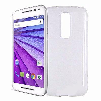 Capa de Silicone TPU Transparente para Motorola Moto G 3ª Geração