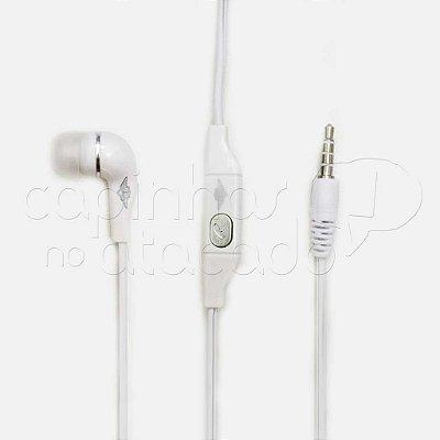 Fone de Ouvido Intra-auricular com Microfone - Cor Branca