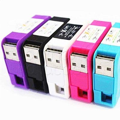 Cabo Retrátil Micro USB / V8 - Cores Sortidas