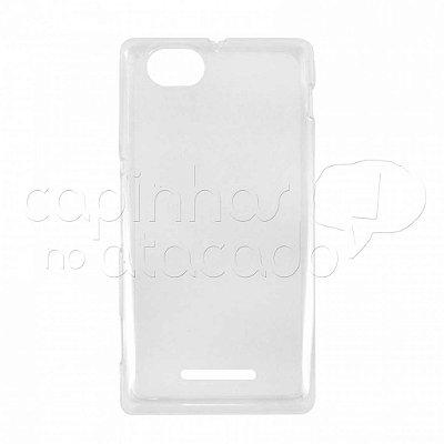 Capa de Silicone TPU Transparente para Sony Xperia M C1905