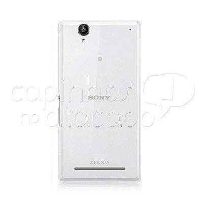 Capa de Silicone TPU Transparente para Sony Xperia T2