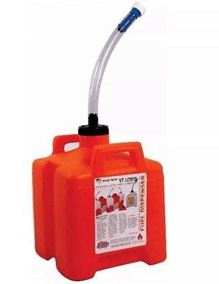 Galão Fuel Dispenser Encaixável 17 Litros