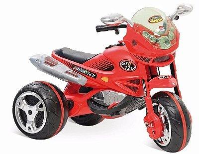 Super Moto Elétrica GT2 Turbo 12v Vermelha Bandeirante