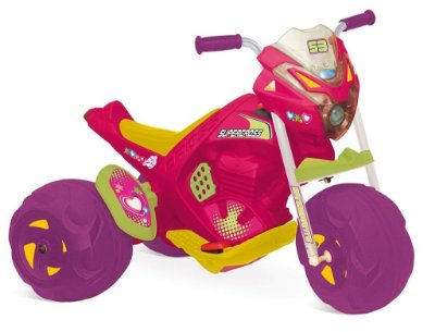 Mini Moto Elétrica Infantil Super Cross 6v Rosa Bandeirante