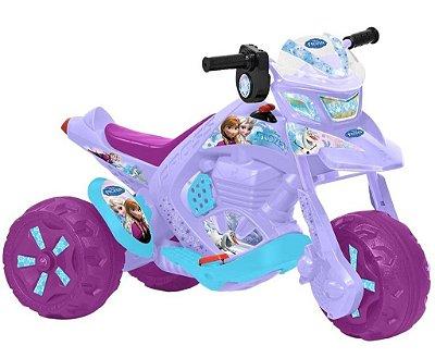 Brinquedo Mini Moto Elétrica ZX Frozen Disney 6v Bandeirante