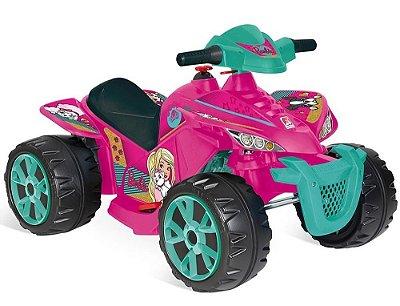 Brinquedo Quadriciclo Elétrico Barbie 6v Bandeirante