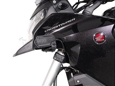 Kit Fixação de Farol Auxiliar Preto SW-Motech Honda VFR 1200X Crosstourer